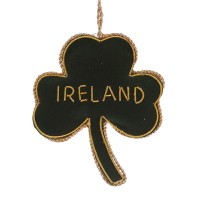 Green and Gold Shamrock with Ireland