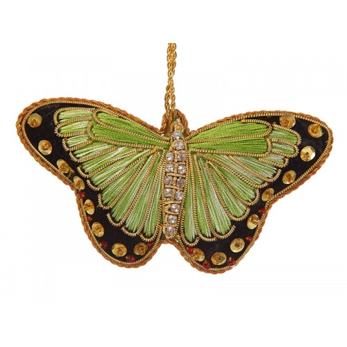 Lime Green Satin Butterfly Decoration
