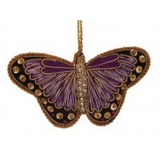 Purple Satin Butterfly Decoration