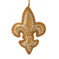 Gold Fleur de Lis Christmas Tree Ornament