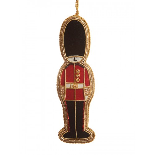 Gold Guardsman Christmas Decoration