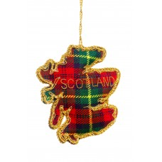 Tartan Map of Scotland Christmas Tree Decoration
