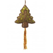 Sage Green Velvet Tree with Tassel