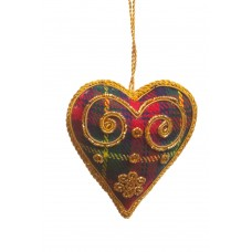 Tartan Heart with Swirls