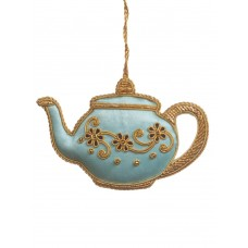 Blue Tea Party Teapot Christmas Ornament