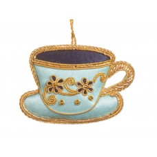 Blue Tea Party Teacup Christmas Ornament