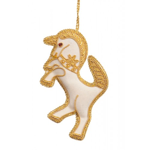 Heraldic Unicorn Christmas Decoration