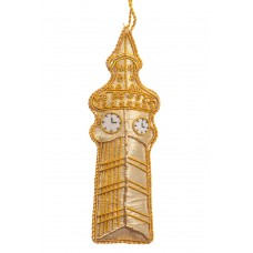 Gold Tissue Big Ben Christmas Decoration