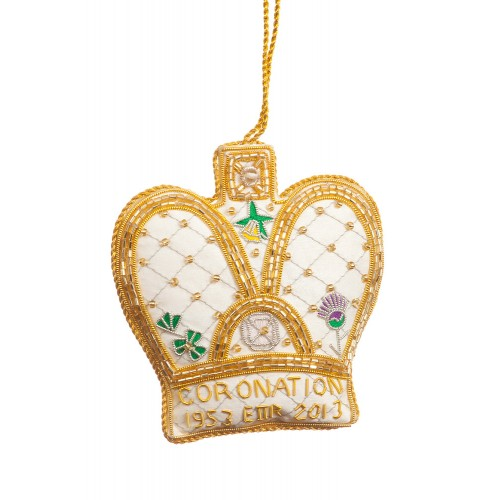 Coronation Dress Crown Christmas Decoration