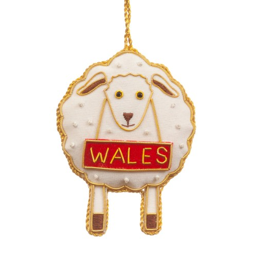 Welsh Sheep Christmas Decoration