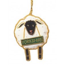 Yorkshire Sheep Christmas Decoration