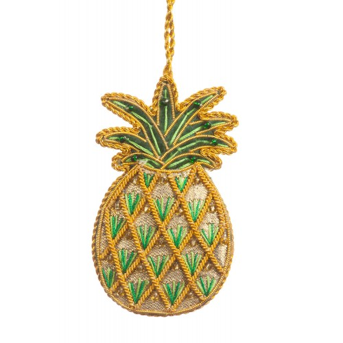 Gold Pineapple Christmas Tree Ornament