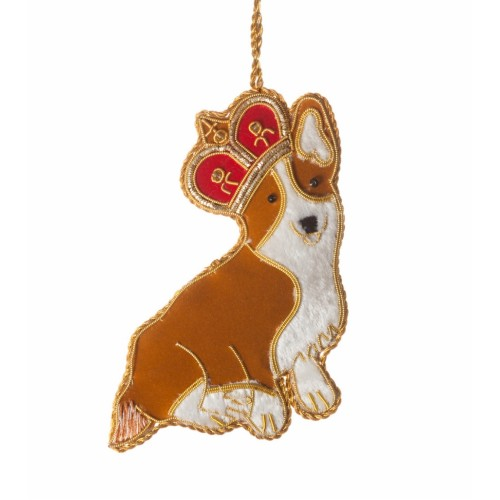 crown corgi christmas tree decoration - Corgi Christmas Ornaments