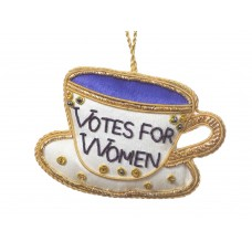 Votes for Women Tea Cup Christmas Tree Decoration