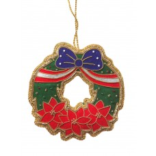 USA Poinsettia Christmas Wreath Christmas Tree Ornamnent