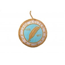 Blue Satin Jane Austen Roundel Decoration