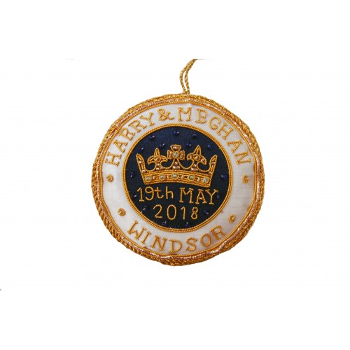 Harry and Meghan Royal Wedding Roundel Christmas Tree Decoration