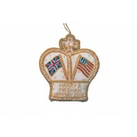 Harry and Meghan Royal Wedding Crown Christmas Tree Ornament