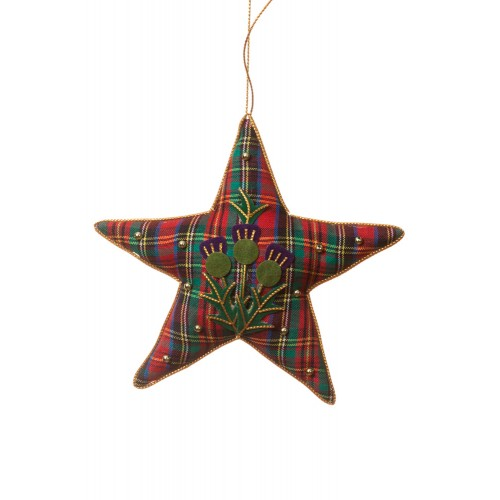 Tartan and Thistle Star Ornament