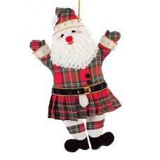 Kilted Father Christmas Ornament