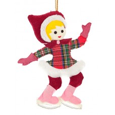 Girl Ice Skater Christmas Decoration