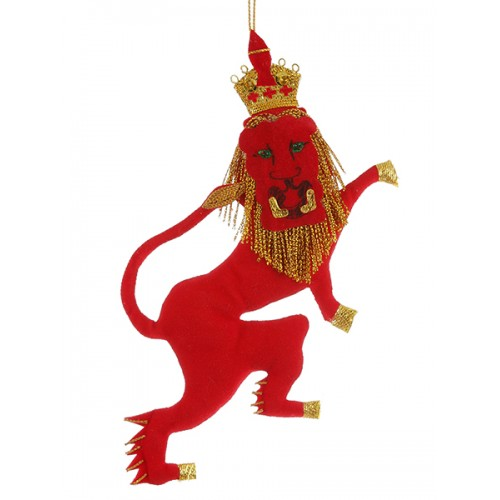 Red Rampant Lion Christmas Decoration