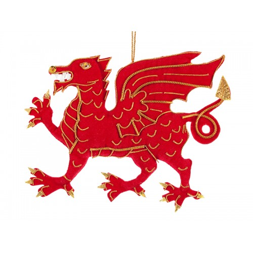 Welsh Dragon Christmas Decoration