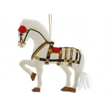 Windsor Grey Horse Christmas Decoration