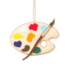 Painter's Palette Christmas Decoration
