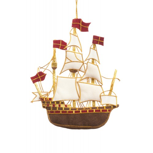 Galleon Christmas Tree Decoration