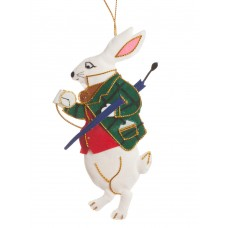 Alice's White Rabbit Christmas Decoration