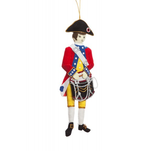 American Revolutionary Drummer Christmas Decoration