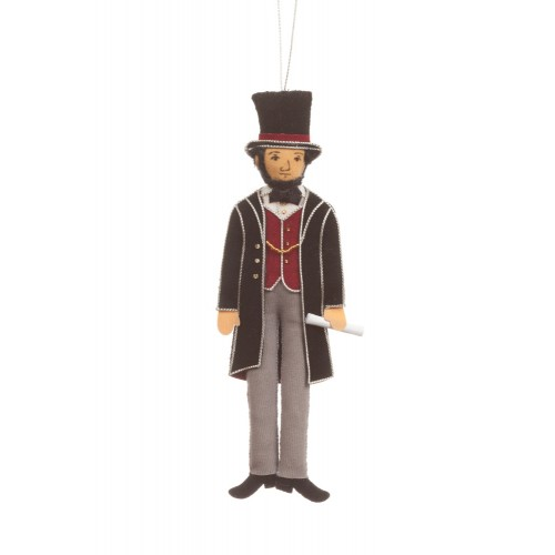 President Abraham Lincoln Christmas Ornament
