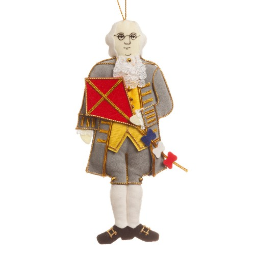 Benjamin Franklin Christmas Tree Ornament