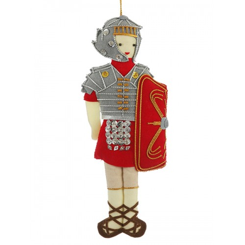 Roman Soldier Handmade Ornament for Christmas