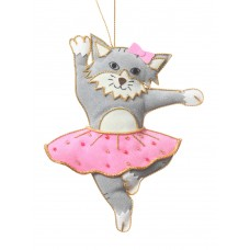 Cat Wearing a Tutu Christmas Tree Ornament