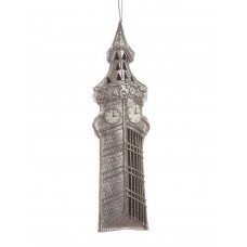 Silver Big Ben London Christmas Tree Decoration