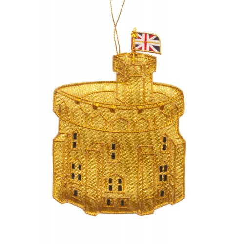 Gold Windsor Tower Christmas Decoration