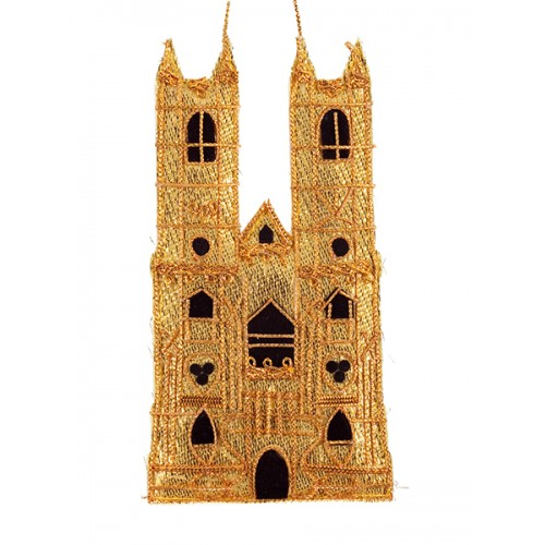 Gold Westminster Abbey Christmas Decoration