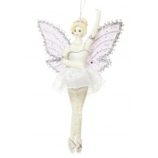 Lilac Winged Fairy Christmas Decoration