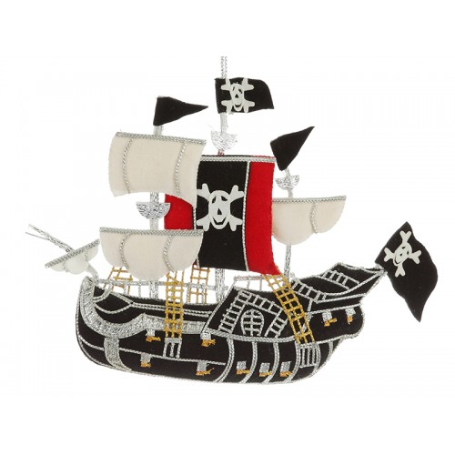 Pirate Ship Nautical Christmas Ornament