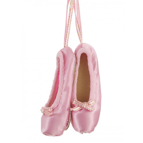 Pink Ballet Pointes Christmas Decoration