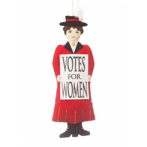 Red Suffragette Christmas Tree Decoration