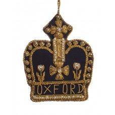Gold and Navy Oxford Crown Decoration