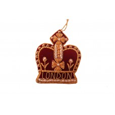 Maroon Crown with London Christmas Tree Ornament