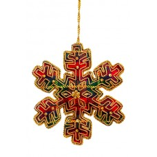 Small Tartan Snowflake Christmas Tree Ornament