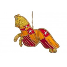 Red Jousting Horse Christmas Decoration