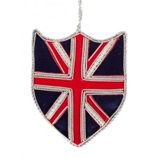 Union Jack Shield  Christmas Ornament