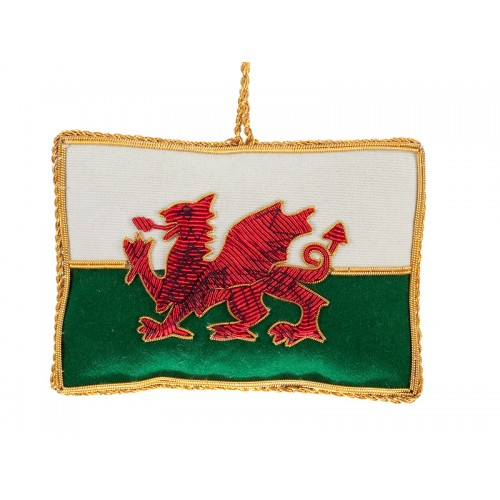 Welsh Flag Christmas Tree Decoration