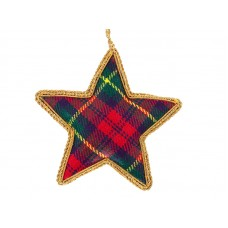 Tartan Star  Christmas Ornament